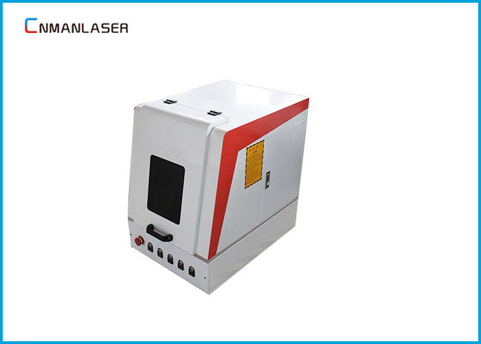 Safety Seals Enclosed Fiber Laser Marking Machine Energy Saving For Bar Codes LOGO