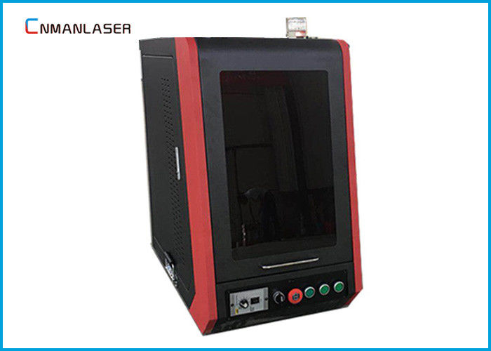 CNC Enclosed Fiber Optic Laser Engraving Machine 20w 30w Air Cooling
