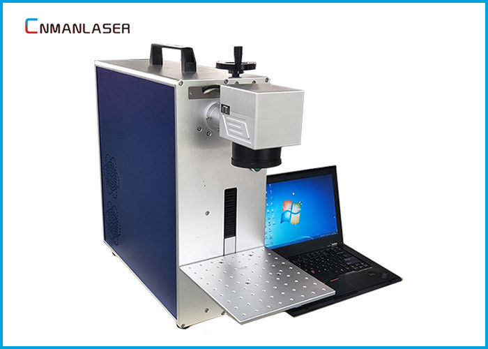 Plastic Aluminum Metal Laser Marking Machine , Metal Laser Engraver With Control Computer