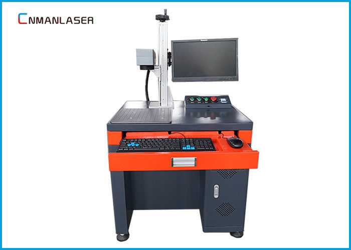 Gold Silver Fiber Laser Marking Engraving Cutting Machine With Up - Down Table